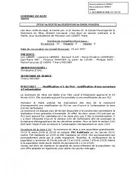 06 – DELIBERATION N°17-2017 JUSTIFIANT L'OUVERTURE A L'URBANISATION DE KERFONTAINE