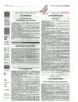 ANNONCES LEGALES ENQUETE PUBLIQUE