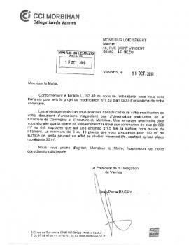 AVIS PPA REPONSE CHAMBRE DE COMMERCE ET D'INDUSTRIE DU MORBIHAN