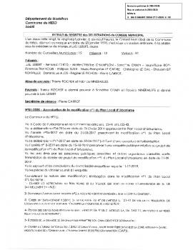 DELIB2020-01 – Approbation de la modification n°1 du Plan Local d'Urbanisme-tamponne