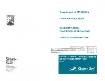 PLU – ORIENTATIONS D'AMÉNAGEMENT ET DE PROGRAMMATION 2020 – PAGES 1 A 9